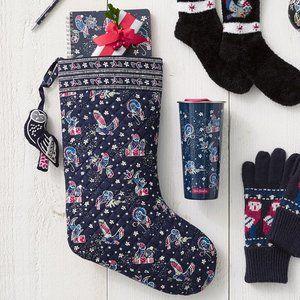 Vera Bradley Holiday Stocking and Ornament Set Owl